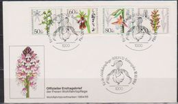 Berlin FDC 1984 MiNr.724 - 727 Wohlfahrt Orchideen ( D 5621 ) Günstige Versandkosten - FDC: Sobres