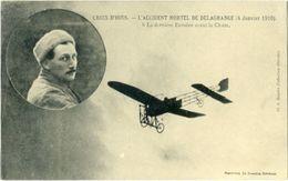CROIX - D'HINS L'Accident Mortel De DELAGRANGE 4 Janvier 1910 ( La Dernière Envolée Avant La Chute  ) - France