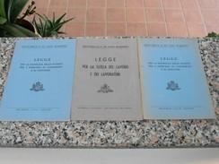 Repubblica Di San Marino - 3 Libretti - Diritto Ed Economia