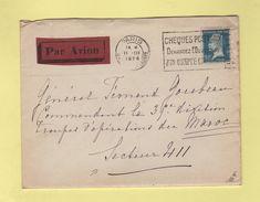 FM + 50c Pasteur Seul Sur Lettre Par Avion Pour Le Secteur 411 - 11-3-1926 Arrivee Le 15-3-1926 - Marcophilie (Lettres)