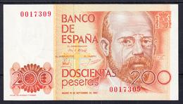 ESPAÑA 1980.  200  PESETAS. LEOPOLDO ALAS CLARIN  SIN SERIE SIN CIRCULAR  B1151 - [ 4] 1975-… : Juan Carlos I