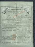 FACTURE DE 1903 CREDIT FONCIER DE FRANCE PARIS : - Bank & Insurance