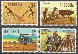 Rhodesia. 1968 15th World Ploughing Contest, Norton, Rhodesia. Used (CTO) Complete Set SG 388-391 - Rhodesia (1964-1980)