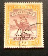 """009- SUDAN - 1912/22- """" Tipo Del 103 Grande Formate, Perforato AS , YT 28a (€40) """" Valore Timbrato - Sudan (...-1951)"""