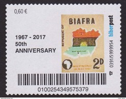 Nigeria Biafra 2017 50 Anniversary Anniversaire Jahrestag Of Independence Stamp On Stamp Selfadhesive, Mnh - Fantasy Labels