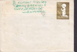 Denmark Brotype IId SLAGELSE 1983 Cover Brief PHILADELPHIA Penn. USA Vanførefonden Vignette & Sclerose Stamps - Briefe U. Dokumente