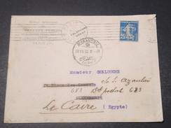 FRANCE - Type Semeuse Perforé ETP Sur Enveloppe De L 'Ecole Spéciale Des Travaux Public En 1912 Pour Alexandrie- L 10963 - Perforés