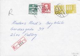 Denmark Registered Einschreiben Recommandé Label & Brotype IId IKAST 1988 Cover Brief - Briefe U. Dokumente