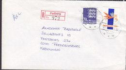 Denmark Registered Einschreiben Recommandé Label & Brotype IId PADBORG 1987 Cover Brief - Briefe U. Dokumente