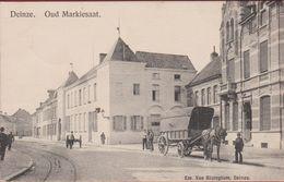 Deinze Oud Markiesaat Geanimeerd ZELDZAAM (kleine Vlekjes) Paardenkar 1908 - Deinze