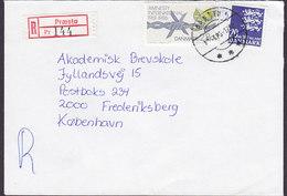 Denmark Registered Einschreiben Recommandé Label & Brotype IId PRÆSTØ 1988 Cover Brief Amnesty International Stamp - Briefe U. Dokumente