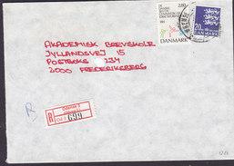 Denmark Registered Einschreiben Recommandé Label & Brotype IId ODENSE C. 1988? Cover Brief DGI Stamp - Briefe U. Dokumente