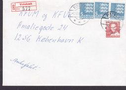 Denmark Registered Einschreiben Recommandé Label & Brotype IId VIDEBÆK 1985 Cover Brief - Briefe U. Dokumente