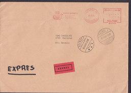 Denmark EXPRES Label HALLE & BOSERUP, ODENSE 1984 Meter Cover Brief Brotype IId ODENSE C. (Odense 23) To BALLERUP - Dänemark