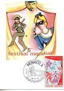 CARTE MAXIMUM MONACO   THEATRE    N° YVERT ET TELLIER   927   1973 - Maximum Cards
