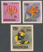 Rhodesia. 1976 Surcharges. MNH Complete Set SG 526-528 - Rhodesia (1964-1980)