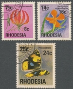 Rhodesia. 1976 Surcharges. Used Complete Set SG 526-528 - Rodesia (1964-1980)