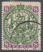 British South Africa Company (Rhodesia). 1897 Arms. 8d Used. SG 72 - Southern Rhodesia (...-1964)
