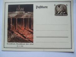 GERMANY - 1934 Postkarte - Mi P 250 - Deutschland, Deutschland Uber Alles! - Allemagne