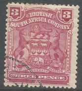 British South Africa Company (Rhodesia). 1898-1908 Arms. 3d Used. SG 81 - Southern Rhodesia (...-1964)