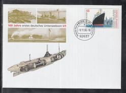 A 51 ) Postal Stationary Germany 2006:  100 Years First German Submarine U1 Used  //  Free Shipping To - Submarines