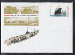 A 51 ) Postal Stationary Germany 2006:  100 Years First German Submarine U1 //  Free Shipping To - Submarines