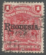 British South Africa Company (Rhodesia). 1909-12 Arms O/ Rhodesia. 1d Used. SG 101 - Southern Rhodesia (...-1964)