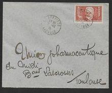 Victor Hugo  N° 332 Seul Sur Enveloppe - Marcophilie (Lettres)