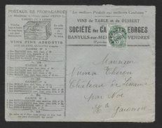 Pyrénées Orientales - Préo 5c Blanc Sur Enveloppe Publicitaire De Banyuls Sur Mer - Marcophilie (Lettres)