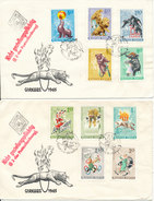 Hungary Registered FDC 26-7-1965 Complete Set Of 10 Stamps On 2 Covers CIRCUS Sent To Germany DDR - FDC