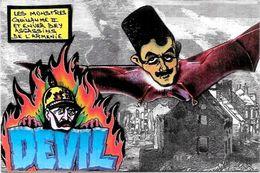 CPM Arménie Génocide Arménien Turquie Turkey Satirique Caricature Non Circulé Kaiser  Enver Pacha - Arménie