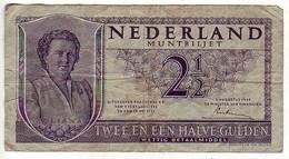 (Billets). Pays Bas. Netherland. 2 1/2 Gulden 1949 N° 1 CC 057804 - [2] 1815-… : Kingdom Of The Netherlands
