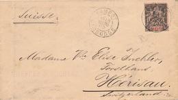 Lettre Kampot Cambodge Pour La Suisse - Indochina (1889-1945)