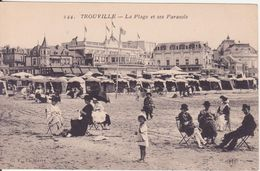 CPA -   244. TROUVILLE - La Plage Et Ses Parasols - Trouville