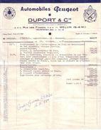 SEINE ET MARNE - MELUN - AUTOMOBILE - PEUGEOT , BERLIET , HOTCHKISS - AUTOMOBILES PEUGEOT - DUPORT & CIE - 1955 - Cars