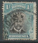 British South Africa Company (Rhodesia). 1913-22 KGV. 1/- Die III Used. SG 271 - Southern Rhodesia (...-1964)
