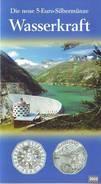 Coin Card BU 5 Euro Argent 2005 Silbermünze  Autriche Österreich Austria Oostenrijk Wasserkraft Energie Hydraulique Vide - Austria