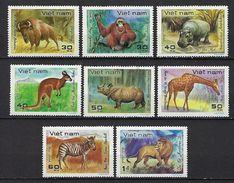 """Vietnam YT 307 à 314 """" Animaux Sauvages """" 1981 Neuf** MNH - Vietnam"""