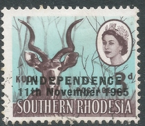 Rhodesia. 1966 Independence Overprints. 3d Used SG 362 - Rhodesia (1964-1980)