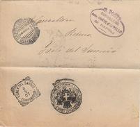 Forlì Del Sannio. 1907. Annullo Tondo Riquadrato FORLI'DEL SANNIO (CAMPOBASSO), Al Verso Di Franchigia + Testo - Storia Postale