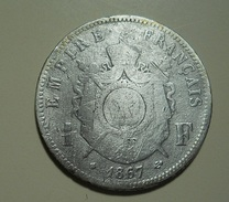 France 1 Franc 1867 BB Silver - Francia