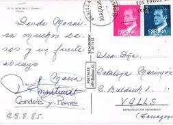 26868. Postal BENISSA (Alicante) 1985. Vista De Las Playas De MORAIRA - 1931-Tegenwoordig: 2de Rep. - ...Juan Carlos I