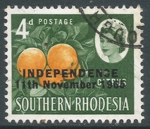 Rhodesia. 1966 Independence Overprints. 4d Used SG 363 - Rhodesia (1964-1980)