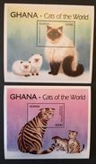 Ghana  1994 GHANA . CATS Of The WORLD 2 S/S - Ghana (1957-...)
