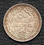 50 Piastres 1952 Argent - Lebanon