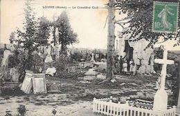CPA 51 LOIVRE , WW1 , LE CIMETIÈRE CIVIL , CIRCULÉE 1915 - France