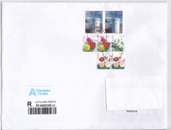 Latvia  To Moldova , 2017 , Flowers ,  Lighthouse , Used Cover - Letland