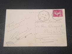 FRANCE - Oblitération De Ligne De Bateau Sur Carte Postale De Colombo Pour Paris En 1935 - L 11035 - Marcophilie (Lettres)