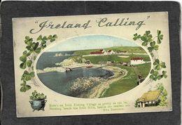 "Ireland-""Ireland Calling""Irish Fishing Village 1953 - Antique Postcard - Ireland"