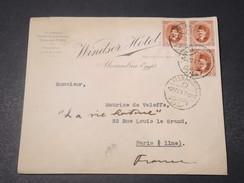EGYPTE - Enveloppe Commerciale D'Alexandria Pour Paris En 1947 - L 11038 - Egypt